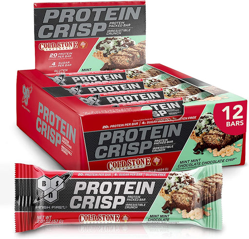 BSN Protein Crisp +Cold Stone Bars Mint Chocolate Chip