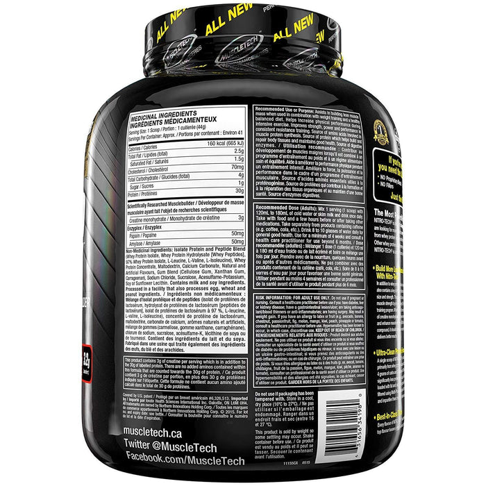 MuscleTech NitroTech Whey Isolate Vanilla 4 lbs