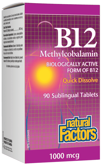 Natural Factors B12 Methylcobalamin 1000 mcg
