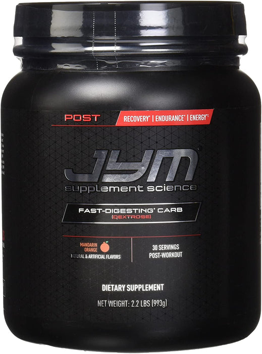 JYM® POST JYM Fast-Digesting Carb 993 g 30 Servings - Mandarin Orange