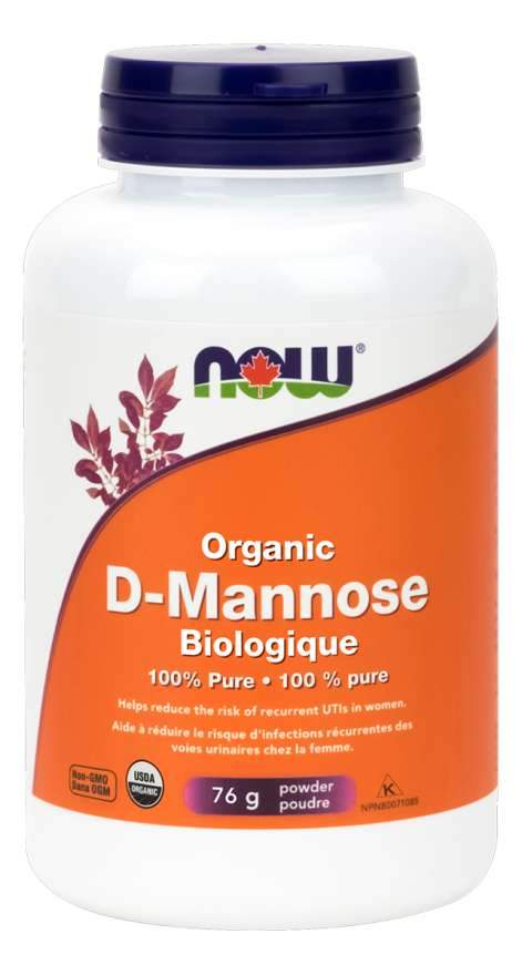 NOW D-Mannose, Organic Powder 76 Grams