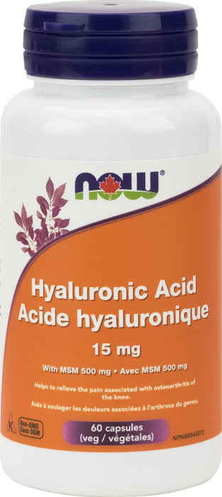 NOW Hyaluronic Acid 15 mg with MSM