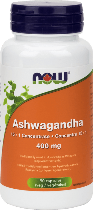 NOW Ashwagandha 400 mg 90 Capsules