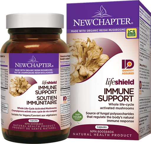 New Chapter LifeShield Immune Support Mushrooms 72 Capsules