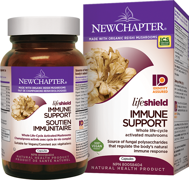 New Chapter LifeShield Immune Support Mushrooms