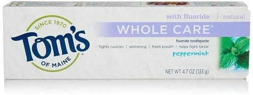 Tom's Of Maine Whole Care Natural Toothpaste - Peppermint