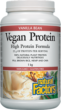 Natural Factors Vegan Protein - Vanilla Bean