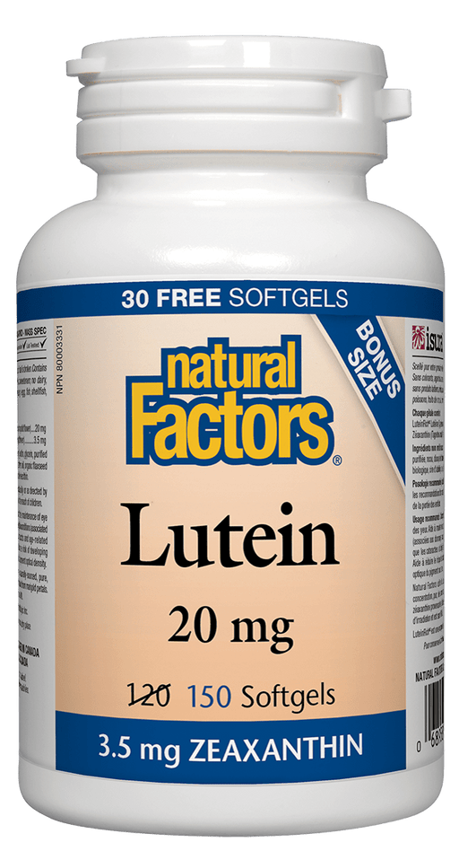 Natural Factors Lutein 20 mg BONUS SIZE 150 Capsules