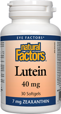 Natural Factors Lutein 40 mg 30 Softgels