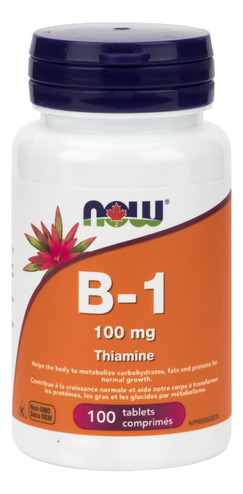 NOW Vitamin B1 Thiamine 100mg 100 Tablets