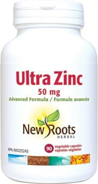 New Roots Ultra Zinc 50 mg 90 Capsules