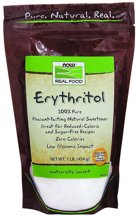 NOW Erythritol Natural Sweetener 454 g