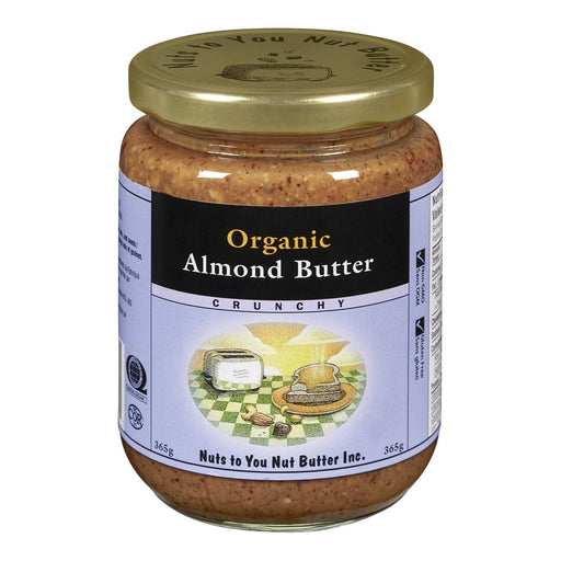 Nuts to You Nut Butter Organic Almond Butter - Crunchy 365 g