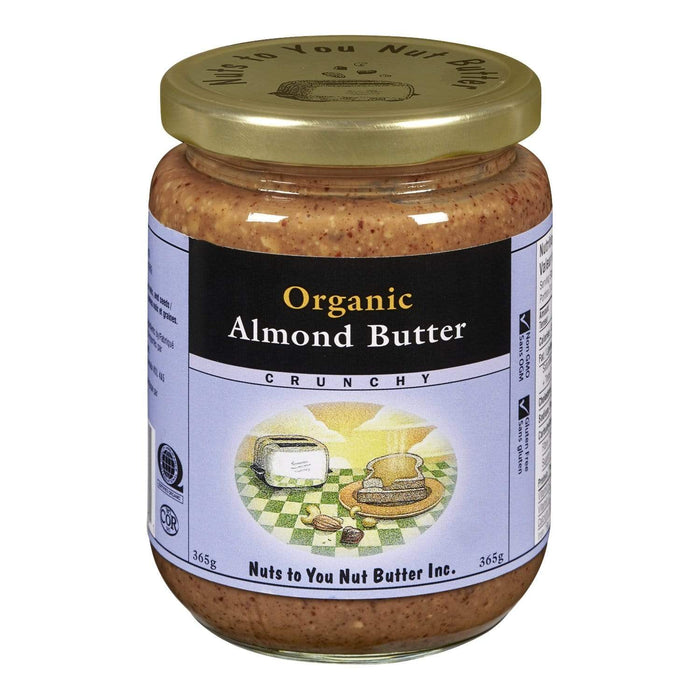 Nuts to You Nut Butter Organic Almond Butter - Crunchy 365 g (Short Dated)