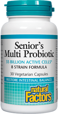 Natural Factors Seniors Multi Probiotic 8 Strain Formula 30 Capsules