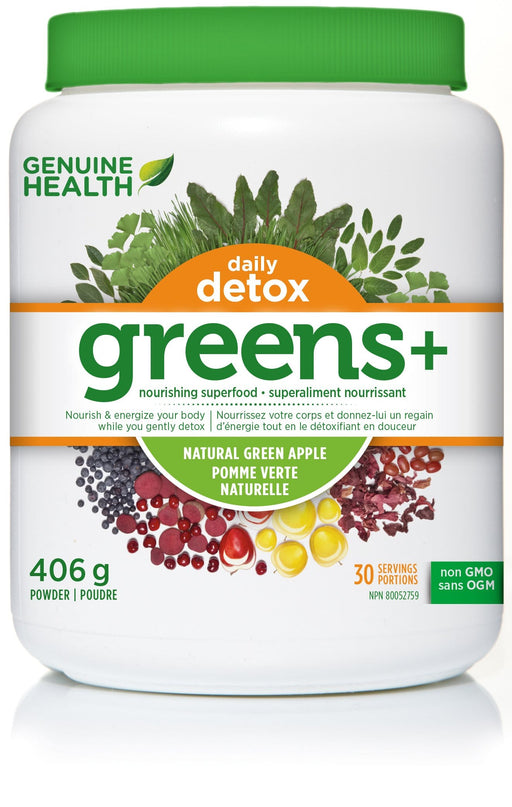 Genuine Health Greens+ Daily Detox Green Apple