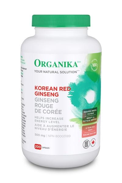 Organika GINSENG - KOREAN RED 500MG 200 Capsules