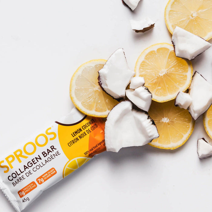 Sproos Marine Collagen Bar, Lemon Coconut
