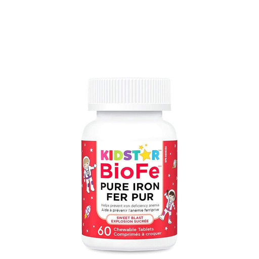KidStar Nutrients BioFe Pure Iron (Sweet Blast) 60 Chewable Tablets