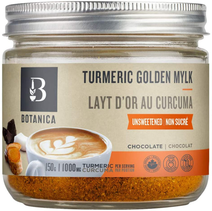 Botanica Turmeric Golden Mylk Unsweetened Chocolate Beverage Mix