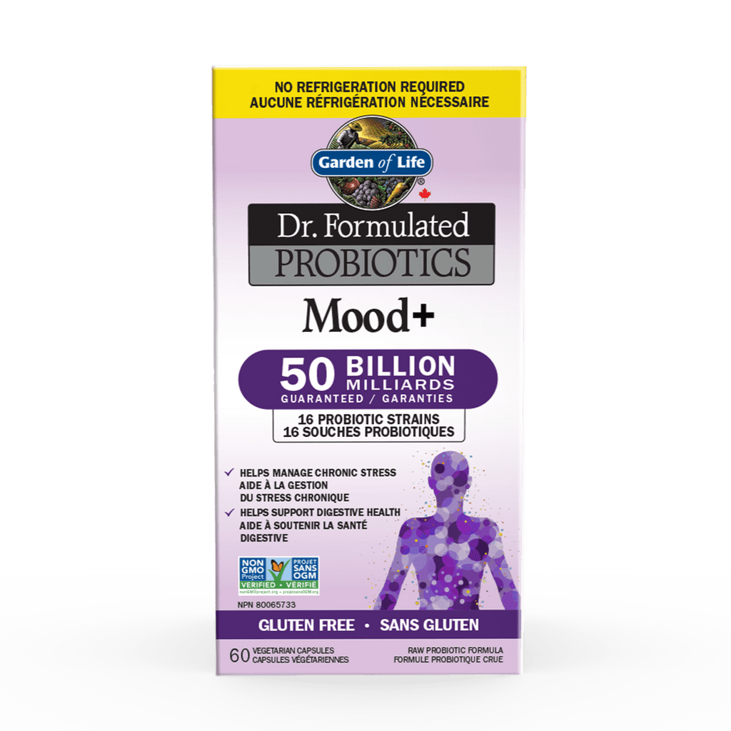 Buy Garden Of Life Dr Formulated Probiotics Mood Shelf Stable 60 Vcaps With Free Shipping In Canada Reviews Ingredients Benefits At Vitasave