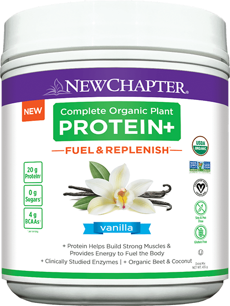 New Chapter Complete Organic Plant PROTEIN+ Fuel & Replenish Vanilla 435 g