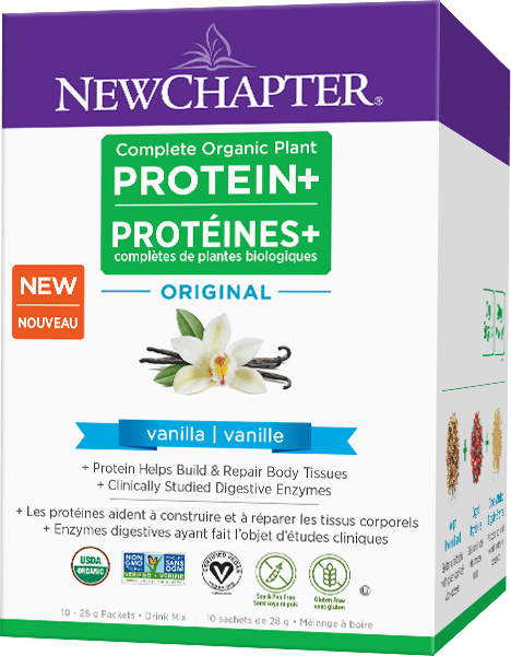 New Chapter Complete Organic Plant PROTEIN+ Original Vanilla 10 x 28 g Packets