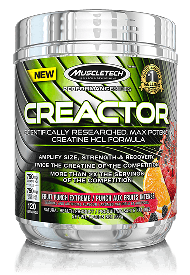 MuscleTech Creactor Creatine HCI Fruit Punch Extreme 269 g