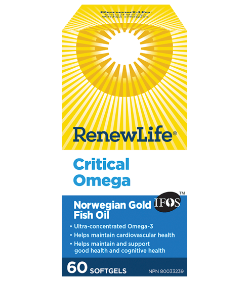 Renew Life Critical Omega 60 Softgels
