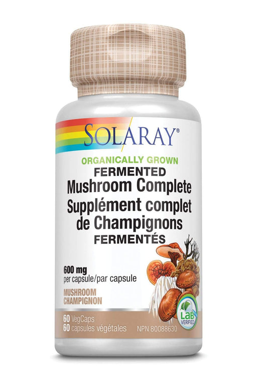 Solaray Organically Grown Fermented Mushroom Complete 600 mg 60 V-Caps
