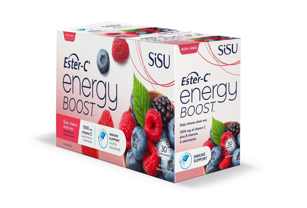 Sisu Ester-C Energy Boost to Go - Wildberry