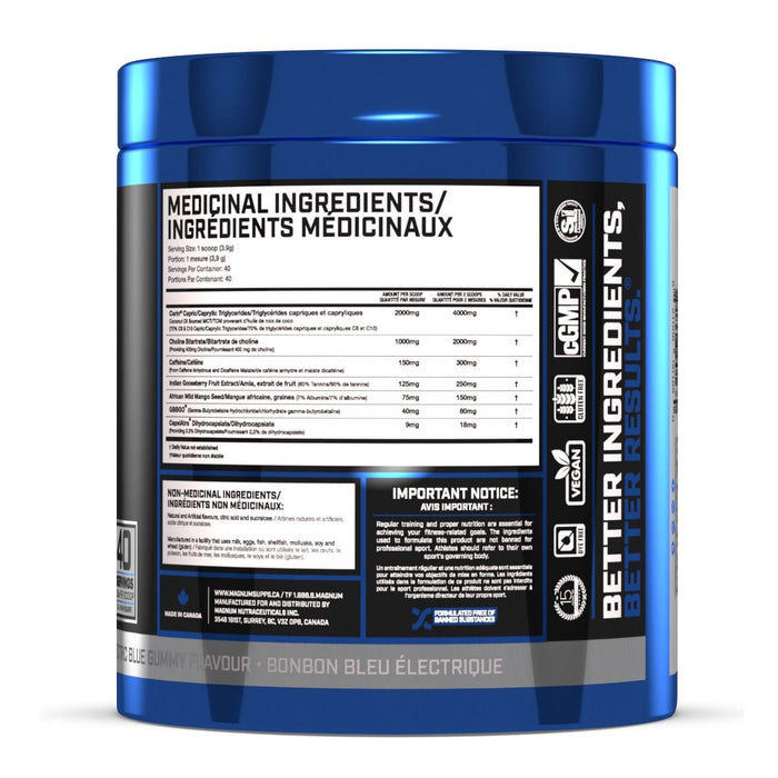 Magnum Nutraceuticals Fasted Cardio 158 g - Electric Blue Gummy Flavour