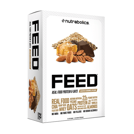 Nutrabolics FEED Real Food Protein & Oats Salted Caramel Pecan 12 x 65 g Bars