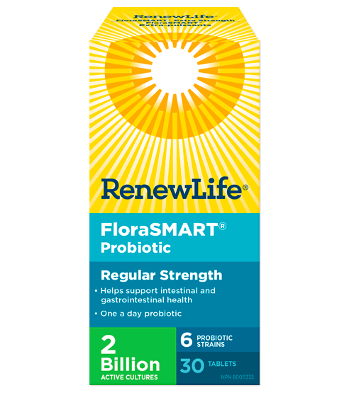 Renew Life FloraSMART 2 Billion Active Cultures 30 Tablets