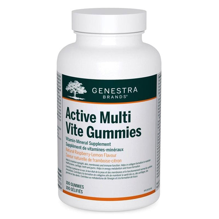 Genestra Active Multi Vite Gummies Natural Raspberry-Lemon Flavour 100 Gummies