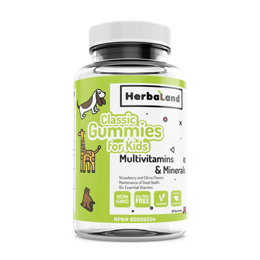 HerbaLand Classic Gummies for Kids Multivitamins & Minerals Strawberry & Citrus Flavour 60 Gummies
