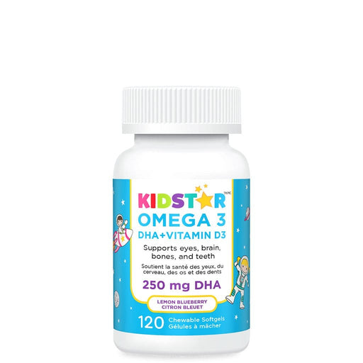 KidStar Nutrients Omega 3 DHA + Vitamin D3 Chewable Softgels
