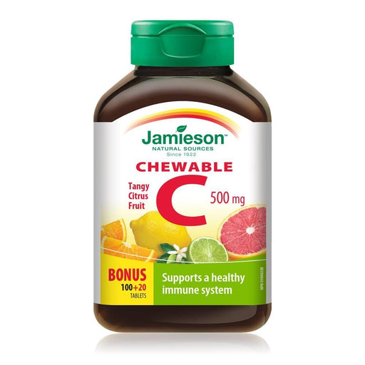 Jamieson Chewable C 500 mg Tangy Citrus Fruit 120 Tablets