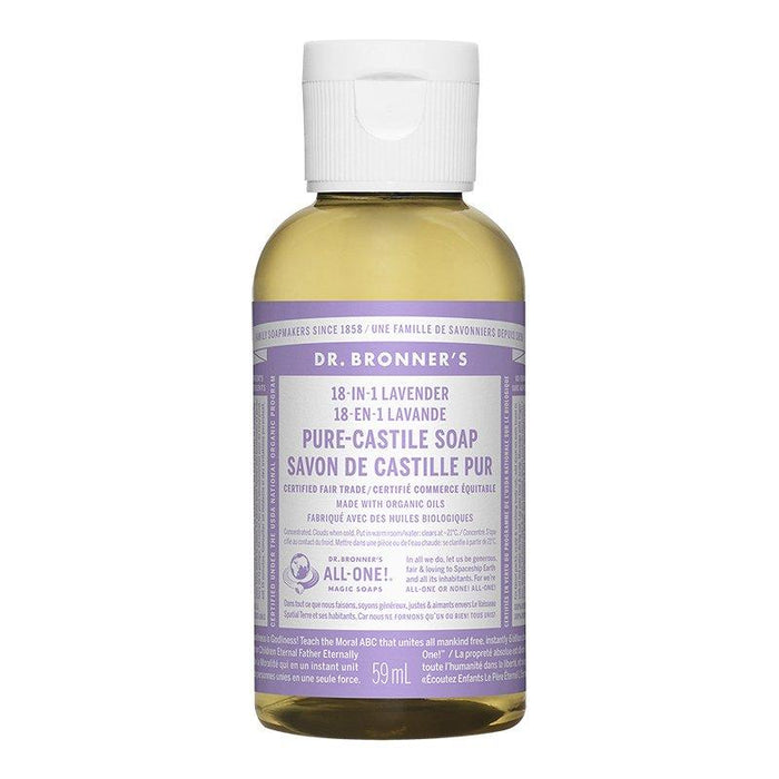 Dr. Bronner's Lavender Liquid Soap 59 mL