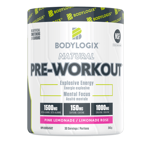 Bodylogix Natural Pre-Workout Pink Lemonade 243 g