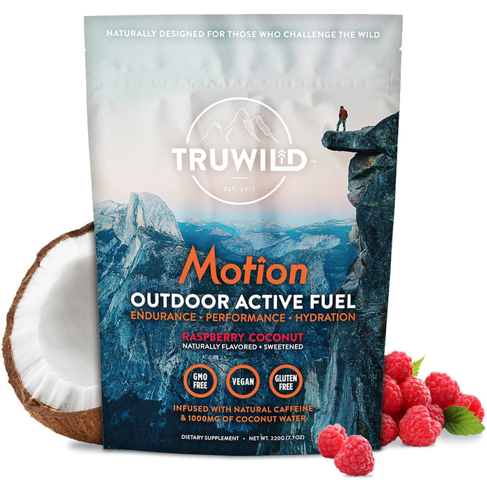 Truwild Motion Natural Energy Raspberry Coconut 20 Servings