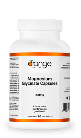 Orange Naturals Magnesium Glycinate 200 mg 90 Capsules