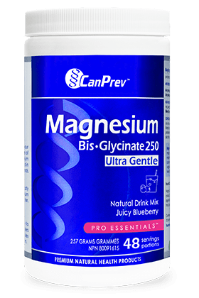 CanPrev Magnesium Bis-Glycinate 250 Ultra Gentle Juicy Blueberry 257 g