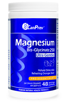 CanPrev Magnesium Bis-Glycinate 250 Ultra Gentle Refreshing Orange Zest 249 g