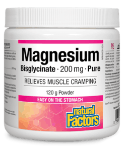 Natural Factors Magnesium Bisglycinate 200 mg 120 g Powder