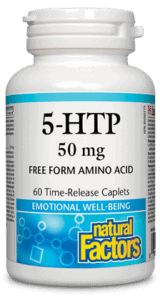 Natural Factors 5-HTP 50 mg 60 Time-Release Caplets