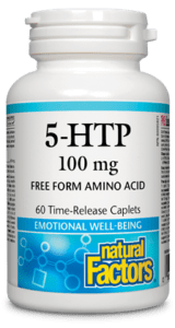 Natural Factors 5-HTP 100 mg Time-Release 60 Caplets