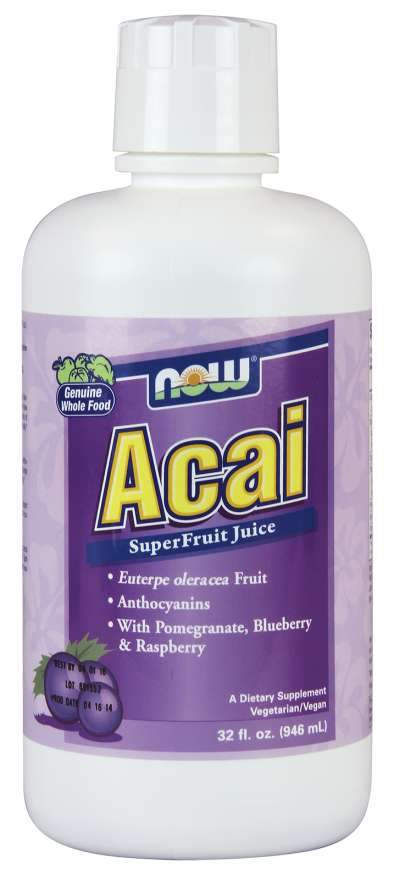 Now Acai Juice Concentrate 946 mL