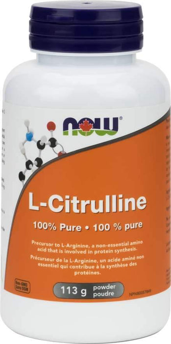 NOW L-Citrulline Pure Powder 113 Grams