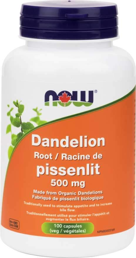 NOW Dandelion Root 500 mg 120 Capsules